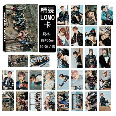 30PCS SET KPOP BTS LOMO CARD Bangtan Boys Jungkook Jimin Jin Rap Monster Gift