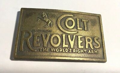 Vintage Belt Buckle Colt Revolvers The World's Right Arm