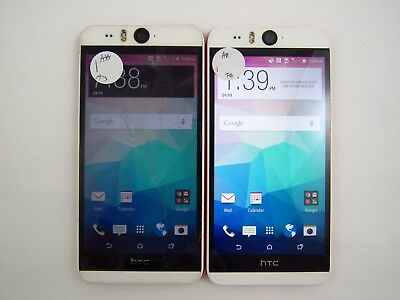 Lot of 2 Cracked HTC Desire Eye OPFH100 ATT Check IMEI 5CR 1779