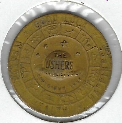 Venice, California - The Ushers Lucky Token copyright 1936 - Gemini