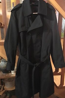 Rare Vintage Continental Airlines/Samsung Flight Attendant Trench Coat Sz: S-38