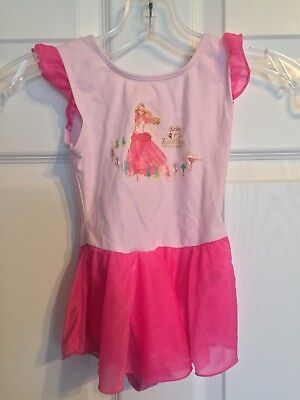 Disney Princess Girls Pink Dance Leotard Size XS 4/5