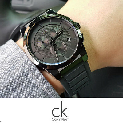 Calvin Klein K2S374D1 Dart Collection Black Dial 45mm Men's Watch Swiss made