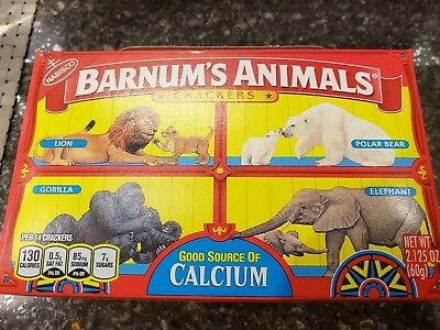 Barnum's Animals Crackers Brand New Discontinued Cage Box Design.