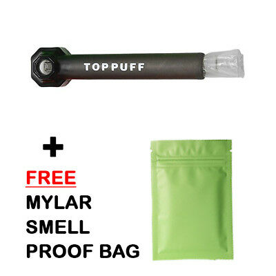 Top Puff Portable Water Pipe Hookah Screw on Bottle Converter + SMELL PROOF BAG