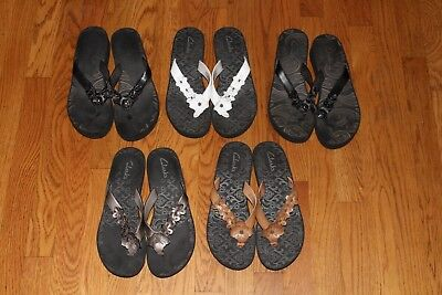 a15a280c8b4 LOT OF 5 Womens Clarks Sandals Size 9