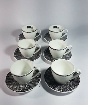 Betty Jackson Black Denby Coffee cups and Saucers