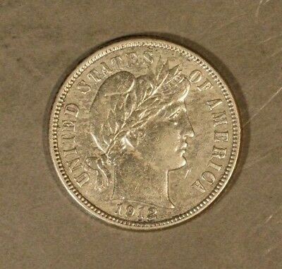 1912 Barber Dime Silver Circulated Coin                  ** FREE U.S SHIPPING**