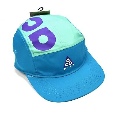 9d10a0a52b9 NWT Nike ACG Mens Teal Purple Retro Logo Trail Running Camp Cap Hat DS  AUTHENTIC
