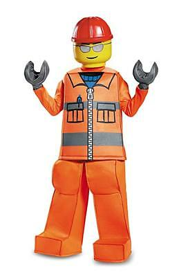 Lego Construction Worker Fancy Dress Up Halloween Deluxe Child Costume Small 4-6