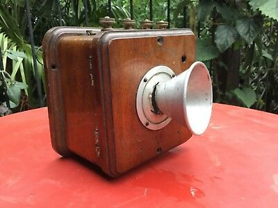 Vintage Wooden Wall Telephone