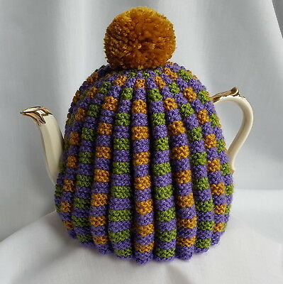 DELUXE TEA COSY, Hand Knit, (for Large Tea Pot), Extra thick, Vintage design