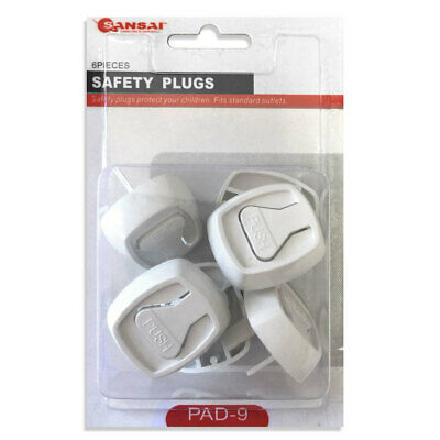 6pc Baby Child Power Point Cover Protective Outlet Board Safety Plugs NZ AU