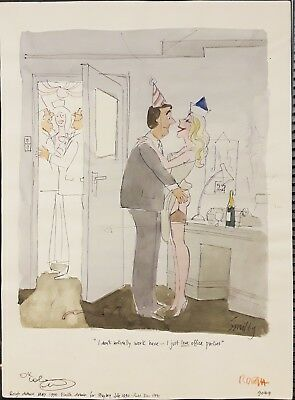 Original drawing by Playboy cartoon artist Smilby ( Francis Wilford-Smith)