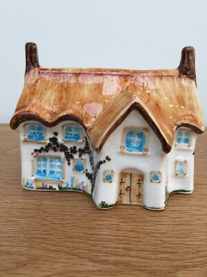 Toni Raymond Pottery Thatched Cottage Money Box