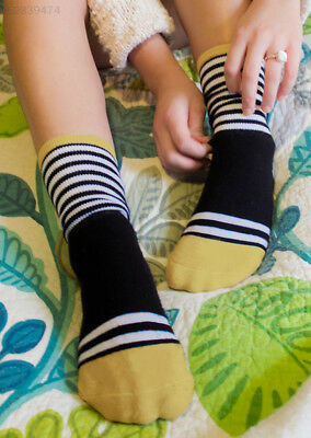 2408 Woman Black White Stripe Warm Letter Printed Foot Protector Thermal Socks