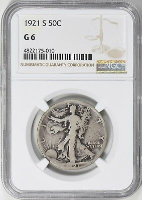 1921-S Walking Liberty Half Dollar NGC G-06