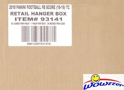 2018 Score Football EXCLUSIVE Factory Sealed 36 Box HANGER CASE-2,160 Cards!