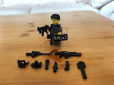 lego swat team minifigure custom army police military accessories