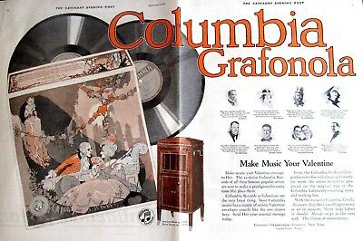 1920 COLUMBIA GRAFONOLA Print Ad  20 x 13 in