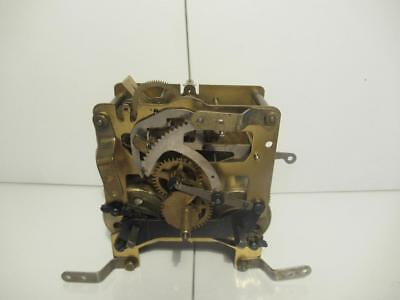 Vintage German c1920 Haller Made 8 Day Time Strike Clock Movement in G.W.O