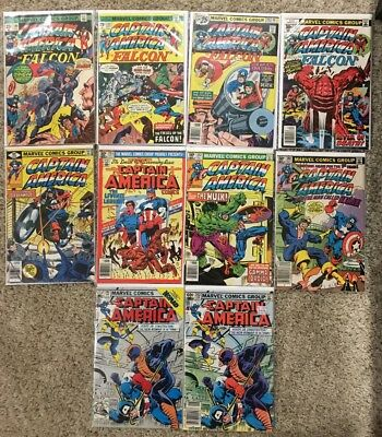 Captain America Comic Lot 180, 191, 198, 208, 237, 255, 257, 261 & 282x2 Marvel