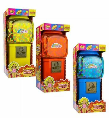 """17"""" Gumball Dispenser Machine Toy plus Bubble Gum refill box Coin Operated Bank"""
