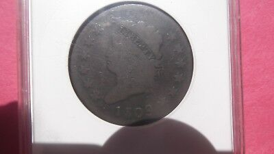 1809 Large Cent Classic Head. Key Date. G4 ANACS 1c Rare Coin.