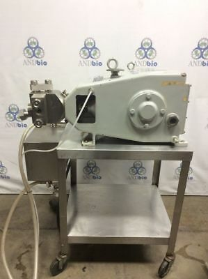 APV Gulian 15MR-8TBA Single Piston Homogenizer on cart 1730RPM 3HP 60Hz 3PH