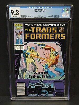 MARVEL TRANSFORMERS #24 1987 CGC 9.8 WHITE PAGES NEWSSTAND 1st COMBATICONS