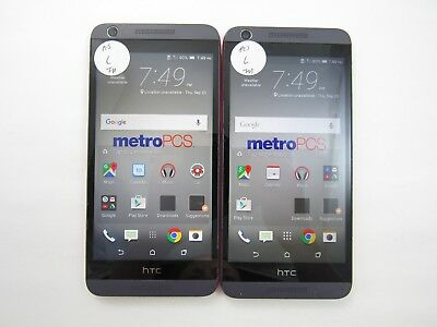Lot of 2 HTC Desire 626s OPM9110 MetroPCS Check IMEI Grade C 3-1515
