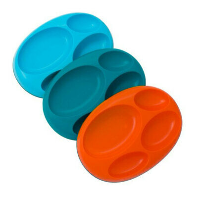3pk Boon Platter Large Food Divided Plate for Kids Baby Toddler Dish Tray