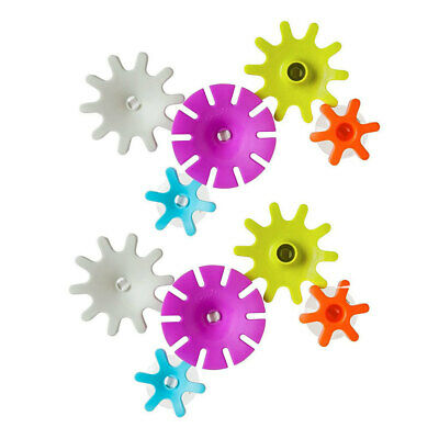 10pc Boon Cogs Building Gears Floating Suction Play Toys Bath Time for Baby Kids