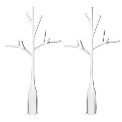 2PK Boon Twig White Bottle Baby Drying Rack Accessory for Grass/Lawn Countertop