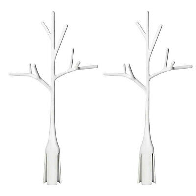 2PK Boon White Twig Grass Lawn Countertop Bottle Drying Rack for Baby Accessory