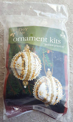 Sulyn Holiday Time Ornament Kit Golden Princess Christmas Beads Sequins Craft NI