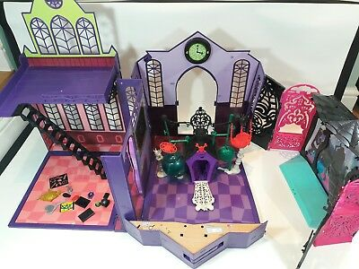 Monster High School Playsets Joblot School Secret Creepers Dj Backdrop No Dolls