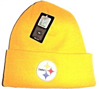 348603aab262f Pittsburgh Steelers NWT Authentic Gold Cuffed Beanie Toque Knit Hat NFL  Reebok