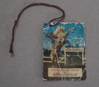 Rare 1950's-60's Roy Rogers Western Hartland Statue Original String Picture Tag