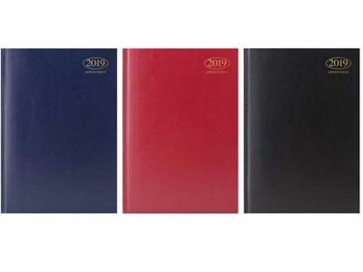 2019 A4/A5/A6 Diary Day to Page or Week to View Desk Diary Hard Backed Diary