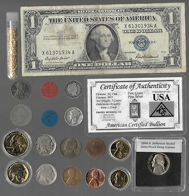 Silver Dollar Barber Mercury Liberty Indian War US Coin Collection 20 Lot Gold P