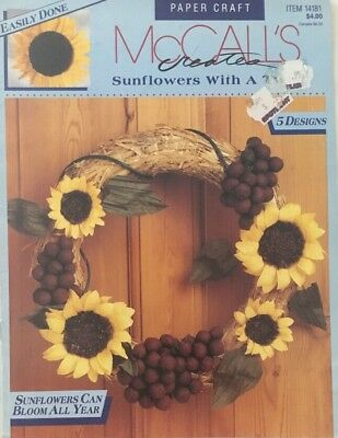McCalls 14181 RETRO Sunflower Wreath Summer Christmas Pattern