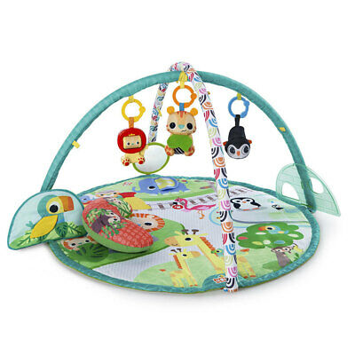Bright Starts Baby Infants Peek-A-Zoo Music Mirror Play Mat Activity Gym Toys