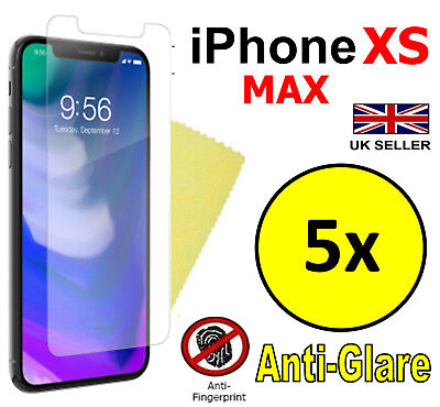5x HQ ANTI GLARE MATTE SCREEN PROTECTOR COVER FILMS FOR APPLE IPHONE XS MAX