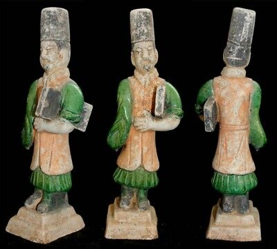 *sc*chinese Ming Dynasty Pottery Figure Court Official, 1368-1644!!