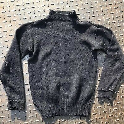 Vintage 1940s WWll US Navy Sweater ID Small