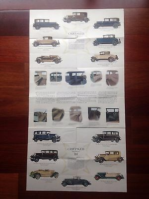 Original 1928 Chrysler Imperial 80 Car Brochure 4 Great Chryslers