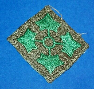 ORIGINAL CUT-EDGE POST WW2 GERMAN MADE 4th INFANTRY DIVISION PATCH OFF UNIFORM