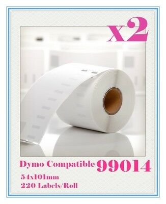 2 Compatible for Dymo / Seiko 99014 Label 54mm x 101mm Labelwriter450/450Turbo