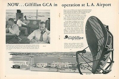 1950 Gilfillan GCA Radar Ad Los Angeles Airport Traffic Control Tower Controller